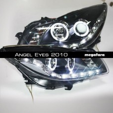 Передние фары Opel Insignia Angel Eyes 2010
