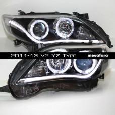Передние фары Toyota Corolla 2011-13 V2 YZ Type