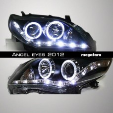 Передние фары Toyota Corolla Angel eyes 2012