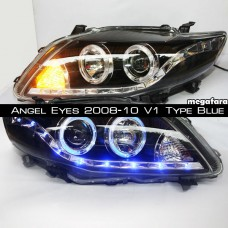Передние фары Toyota Corolla Angel Eyes 2008-10 V1 Type Blue