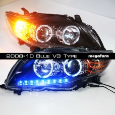 Передние фары Toyota Corolla 2008-10 Blue V3 Type