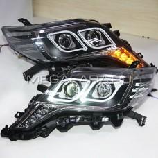 Передние фары Тойота Ленд Крузер Прадо 150 V6 Type [Комплект Л+П; яркие ходовые огни; электрокорректор; биксеноновая линза]
