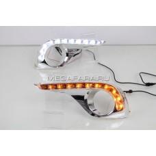 Дневные ходовые огни Тойота Хайлендер 2011-2013 V6 type