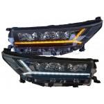 Передние фары Тойота Хайлендер 2018-2020 V21 type [FULL LED, комплект Л+П, бегущий поворотник, ходовые огни]