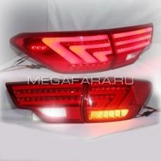 Задние фонари Тойота Хайлендер XU50 2014-2016 V11 Type [Комплект Л+П; светодиодные; ДИНАМИЧНЫЙ ПОВОРОТНИК]