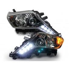 Передние фары Тойота Ленд Крузер Прадо 150 V5 Type  [Комплект Л+П; яркие ходовые огни; электрокорректор; биксеноновая линза]