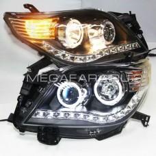Передние фары Тойота Ленд Крузер Прадо 150 2009-2013 V4 Type [КОМПЛЕКТ Л+П; ходовые огни; биксеноновая линза; электрокорректор]