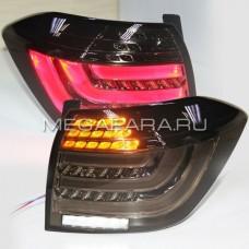 Задние фонари Тойота Хайлендер 2011-2013 BMW Style V6 type