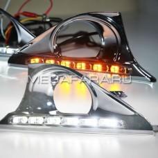 Дневные ходовые огни Тойота Камри V50 2011-2014 V3 type