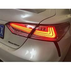 Задние фонари Тойота Камри V70 2018-2021 V3 type [Комплект Л+П; светодиодные; бегущий поворотник]