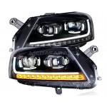 Передние фары VW Пассат Б7 2011-2014 V14 Type [КОМПЛЕКТ Л+П; Светодиодные ходовые огни; Динамичный поворотник; Биксеноновая линза Hella 5R]
