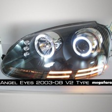 Передние фары Volkswagen Golf V Angel Eyes 2006-2010 V2 Type