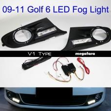 Дневные ходовые огни Volkswagen Golf VI DRL V1 Type