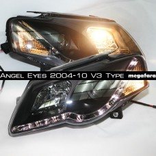 Передние фары Volkswagen Passat B6 Angel Eyes 2004-10 V3 Type