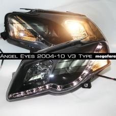 Передние фары Volkswagen Passat B6 Angel Eyes 2004-10 V3 Type