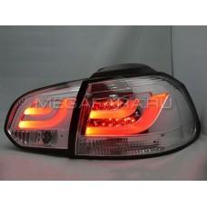 Задние фонари Гольф 6 2008 - 2012 ХРОМ V6 type