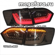 Задние фонари Jetta 6 2011-2013  V4 type Black color