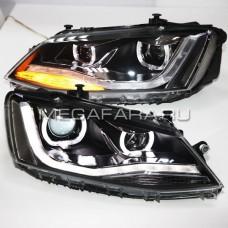 Передние фары Джетта 6 2011-2015 V6 type