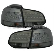 Задние фонари Гольф 6 2008 - 2012 ХРОМ V8 type