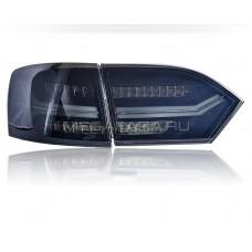 Задние фонари Джетта 6 2011-2013 V8 type [Комплект Л+П; Полностью светодиодные; динамичный поворотник; дымчатые]
