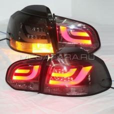 Задние фонари Гольф 6 2008 - 2012 ТОНИРОВАННЫЕ V7 type