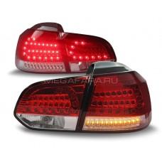 Задние фонари Гольф 6 2008 - 2012 КРАСНЫЕ V12 type