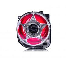 Передние фары Джип Ренегат 2015-2017 КРАСНЫЕ V2 type FULL LED