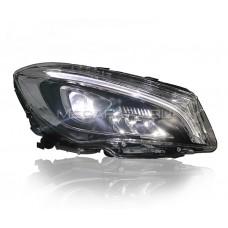 Передние светодиодные фары Мерседес Бенц CLA class 2014-2020 V1 type [Комплект Л+П; ходовые огни; FULL LED]