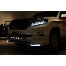 Передние фары Тойота Ленд Крузер Прадо 150 2017-2019 V13 Type [Комплект Л+П; Светодиодные линзы; яркие ходовые огни]