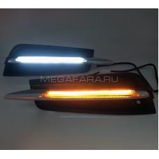 Дневные ходовые огни Шевроле Круз 2009-2012 V4 Type [Комплект Л+П;светодиодные; повторитель поворота]
