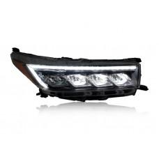 Передние фары Тойота Хайлендер 2018-2020 V24 type [Комплект Л+П; светодиодные; электрокорректор; яркие ходовые огни; динамичный поворотник]