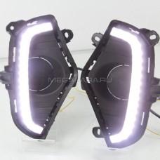 Дневные ходовые огни Тойота Рав 4 2020-2022 V2 type [Комплект Л+П; светодиодные; + поворотник]