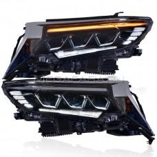 Передние фары Тойота Ленд Крузер Прадо 150 2017-2019 V12 Type [Комплект Л+П; Светодиодные линзы; яркие ходовые огни]