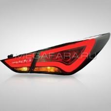 Задние фонари Хендай Соната 2009-2011 V7 type [Комплект Л+П; светодиодные; ТОНИРОВАННЫЕ]