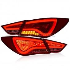 Задние фонари Хендай Соната 2009-2011 V8 type [Комплект Л+П; светодиодные]