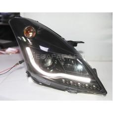 Передние фары Сузуки Свифт 2010-2017 V1 Type [Комплект Л+П; ходовые огни; под галоген; под штатный электрокорректор]