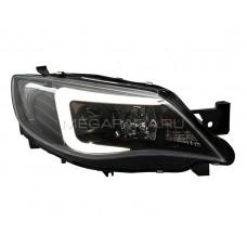 Передние фары Субару WRX Impreza 2009-2012 V2 Type [Комплект Л+П; ходовые огни; под галоген; под штатный электрокорректор]