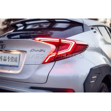 Задние фонари Тойота C-HR 2017-2020 V1 type [Комплект Л+П; полностью светодиодные; динамичный поворотник]