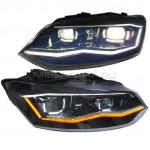 Передние фары Фольксваген Поло 2010-2019 V11 type [Комплект Л+П; якие ходовые огни; светодиодные; биксеноновая линза; динамичный поворотник]