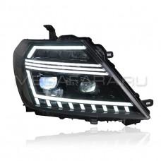Передние фары Ниссан Патрол Y62 V4 type [Комплект Л+П; светодиодные; электрокорректор; яркие ходовые огни; динамичный поворотник]