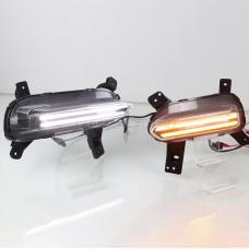 Дневные ходовые огни Киа Церато 2019-2021 V1 Type [Комплект Л+П; светодиодные; + поворотник]