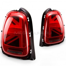 Задние фонари Мини Купер F55 F56 Union Jack 2013-2018 V1 type КРАСНЫЕ [Комплект Л+П; Светодиодные; динамичный поворотник]