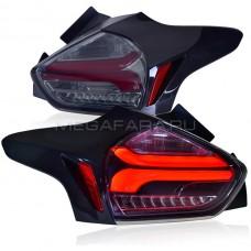 Задние фонари Форд Фокус 3 Хетчбэк 2015-2020 V11 Type ДЫМЧАТОЕ СТЕКЛО [Комплект Л+П; светодиодные; динамичный поворотник]