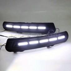 Дневные ходовые огни Форд Мондео 4 2011-2014 V1 Type [Комплект Л+П; светодиодные; + поворотник]