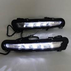 Дневные ходовые огни Форд Мондео 2011-2014 V2 Type [Комплект Л+П; светодиодные]