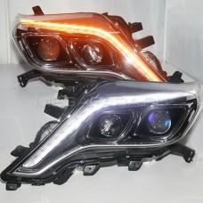 Передние фары Тойота Ленд Крузер Прадо 150 V7 Type [Комплект Л+П; яркие ходовые огни; электрокорректор; биксеноновая линза]