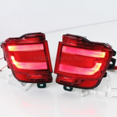 Светодиодные вставки в задний бампер Тойота Ленд Крузер LC200 FJ200 2016-2017 V1 type