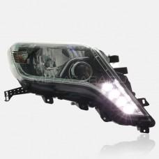 Передние фары Тойота Ленд Крузер Прадо 150 2013-2017 V5 Type [Комплект Л+П; LED ходовые огни; электрокорректор; LED линза]