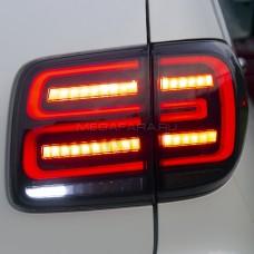 Задние фонари Ниссан Патрол Y62 2011-2019 V5 type [Комплект Л+П; светодиодные; бегущий поворотник; ТЕМНЫЕ]