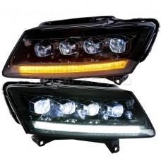 Передние фары Ауди Q5 2009-2018 V2 type [Комплект Л+П; FULL LED; электрокорректор; яркие ходовые огни; динамичный поворотник]